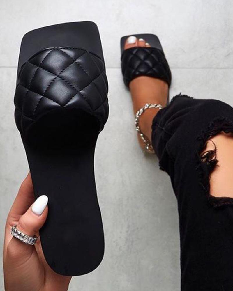 Square Toe Slide Sandals thumbnail