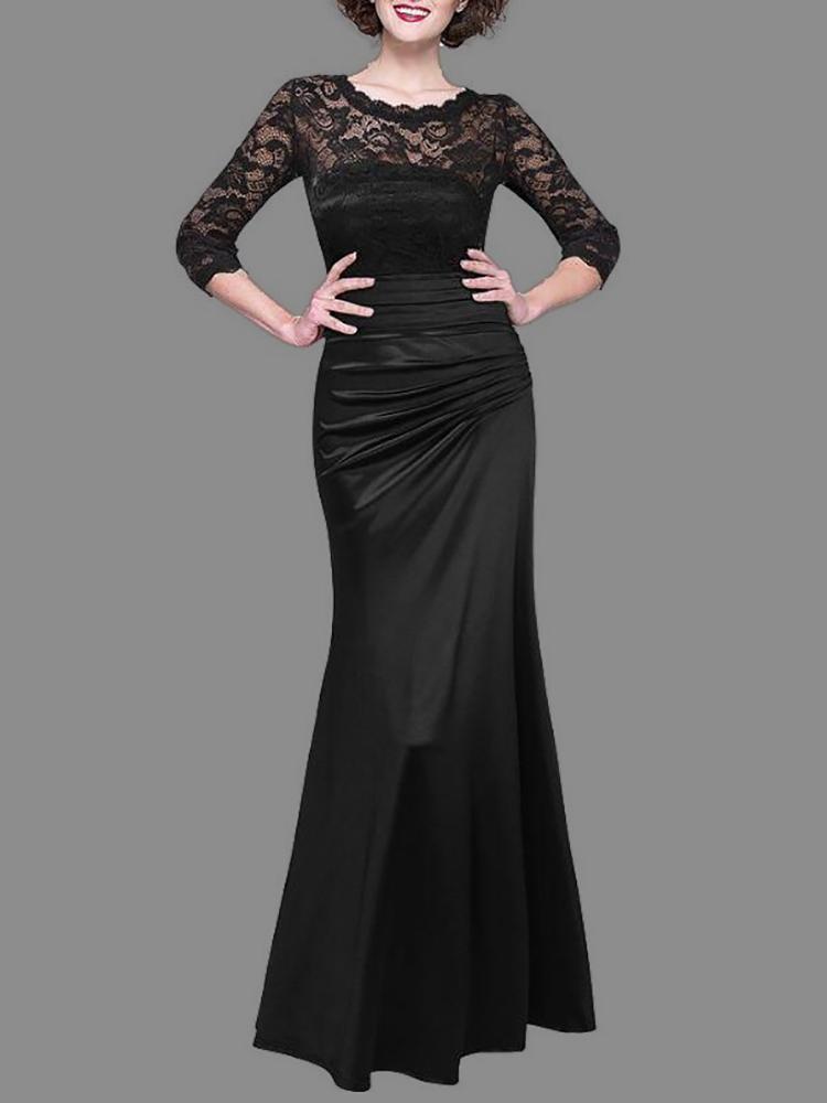 ddbaf5d5b25 Women Lace Crochet Pleated Maxi Dress Online. Discover hottest trend ...