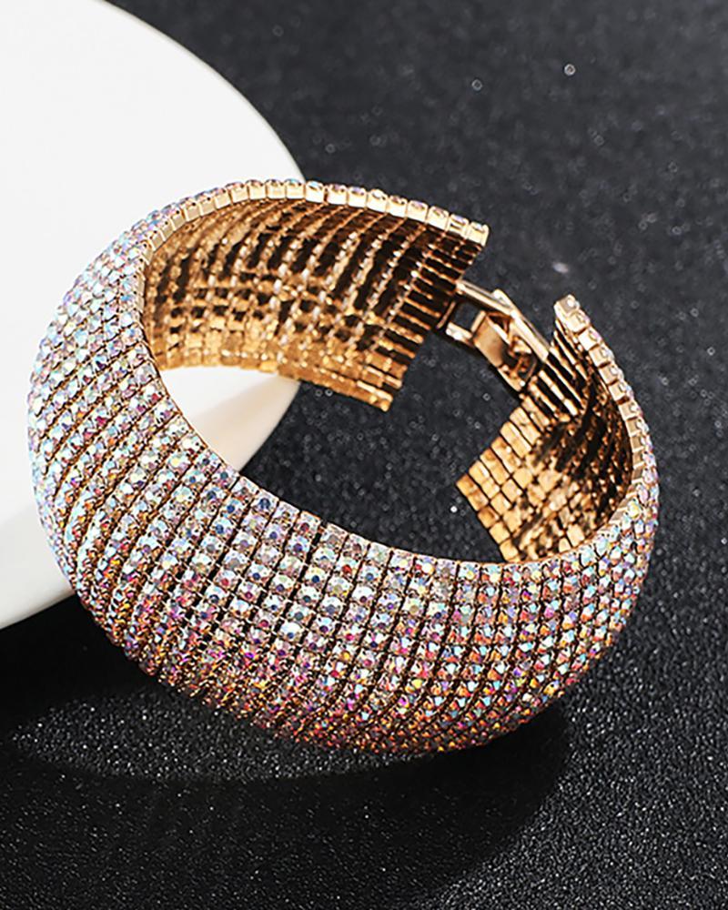 Glitter Studded Magnetic Buckle Bracelet thumbnail