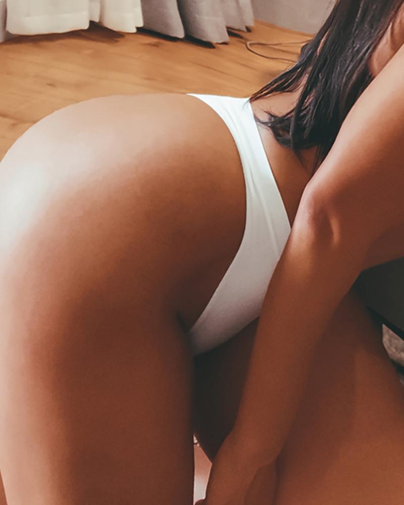Solid High Wasit Thong Panty thumbnail