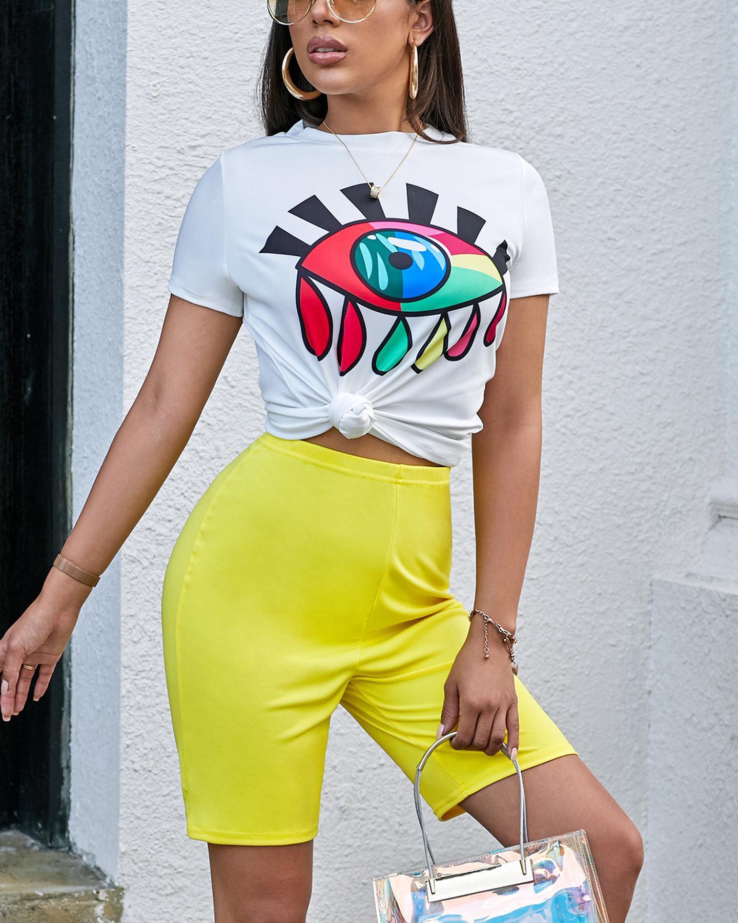 Eye Sequin T-Shirt & Shorts Set thumbnail