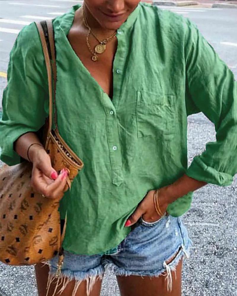 Long Sleeve Half Button Shirt thumbnail