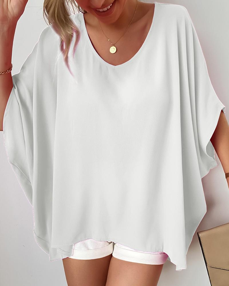 V Neck Oversized Casual Top thumbnail