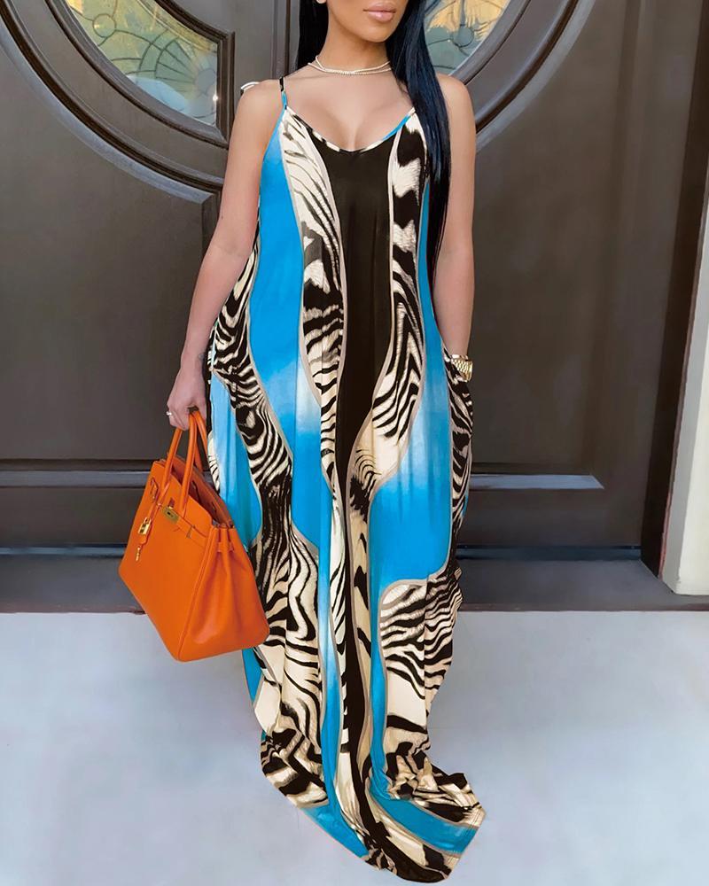 Cheetah Print Sleeveless Maxi Dress thumbnail