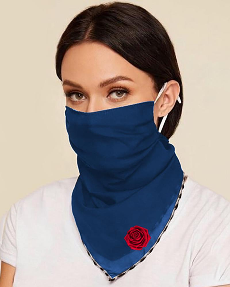 Floral Print Breathable Ear Loop Face Cover thumbnail