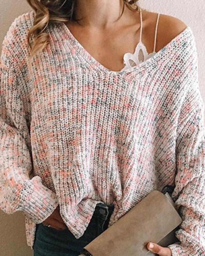 Color Block Long Sleeve Sweater thumbnail