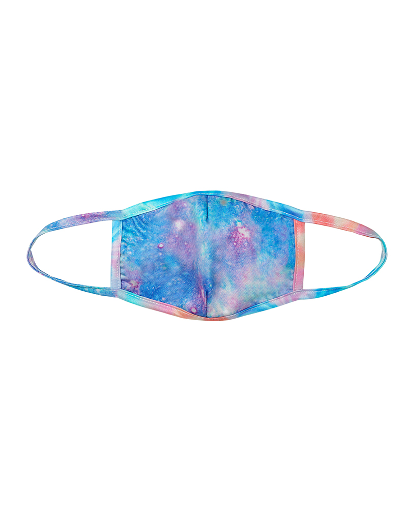 Tie Dye / Starry Sky Print Colorblock Breathable Mouth Mask thumbnail