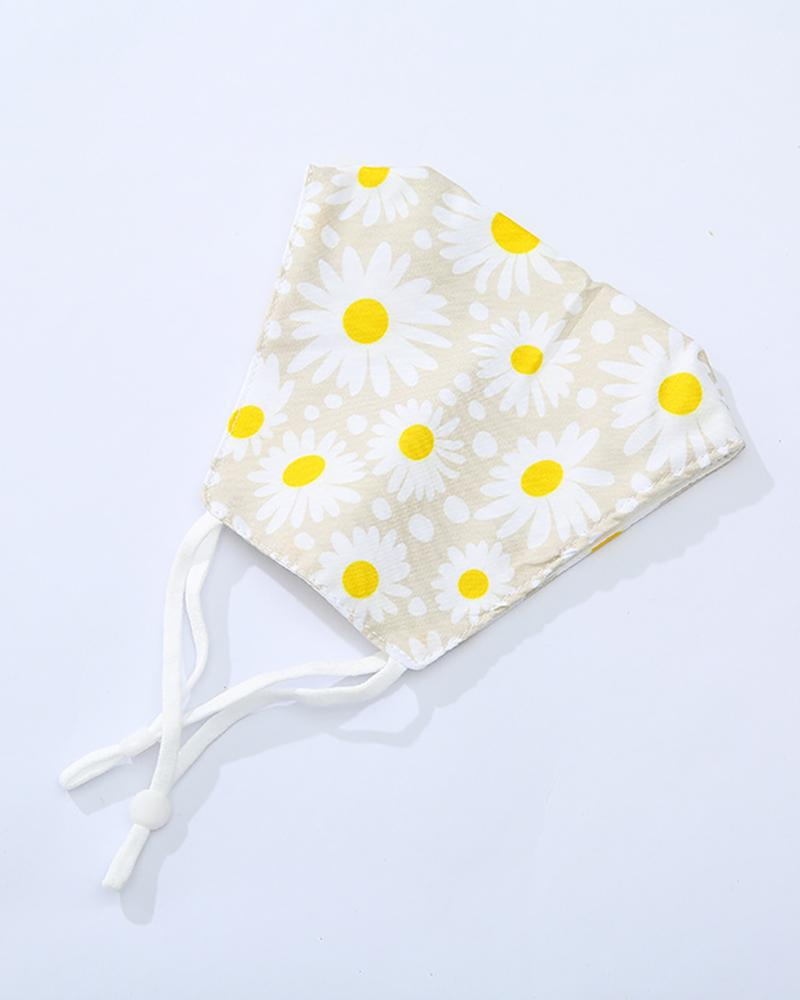 Butterfly / Daisy / Fruit Print Breathable Mouth Mask thumbnail