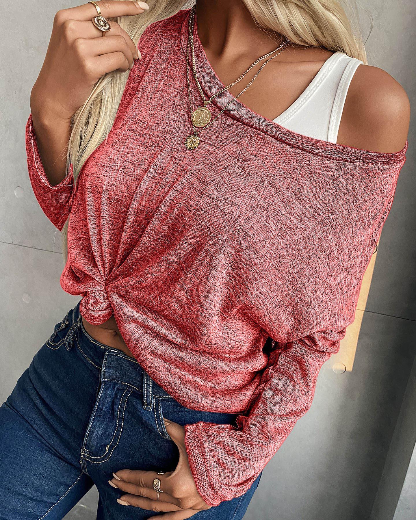 Plus Size Women Baggy Blouse Sweatshirt Ladies Long Sleeve Casual Pullover Tops