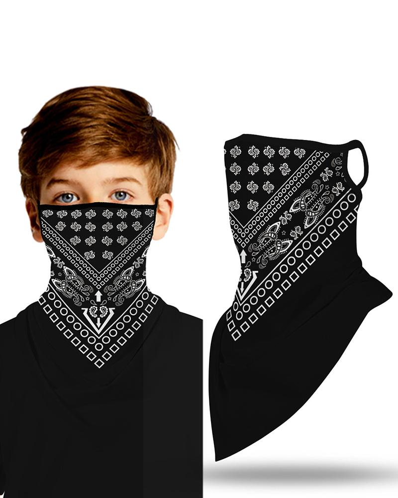 Print Breathable Ear Loop Face Cover Windproof Outdoors For Children