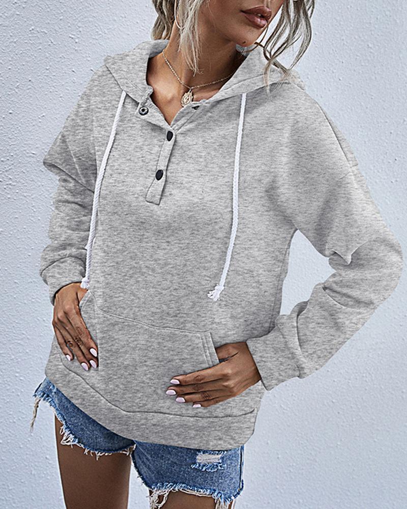 Solid Long Sleeve Hoodies Sweatshirts thumbnail