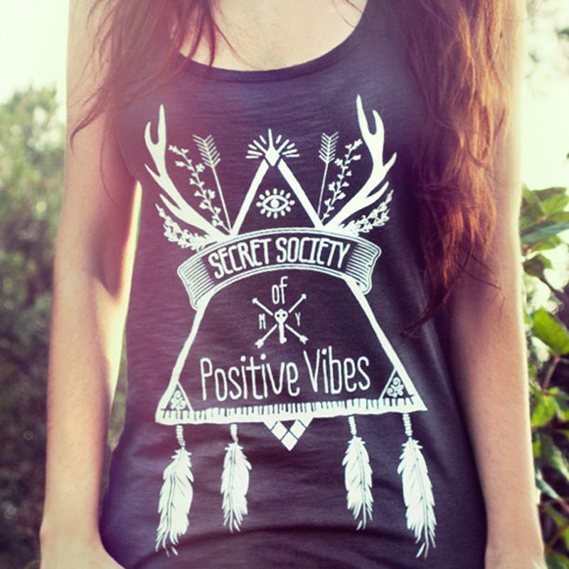 Summer Women's Fashion Black Vest Basic Tees Secret Society Printing Sleeveless T-shirt Tanks Top thumbnail