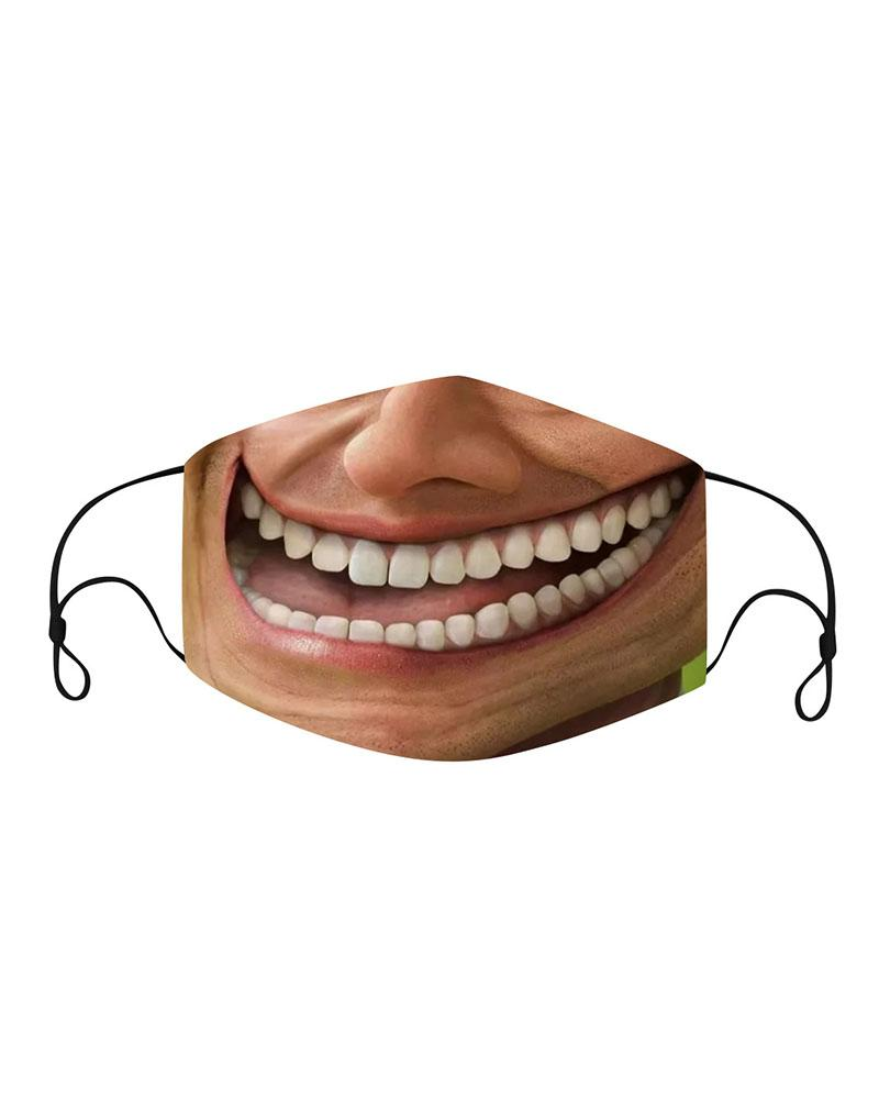 Funny Face Expression Breathable Face Mask thumbnail