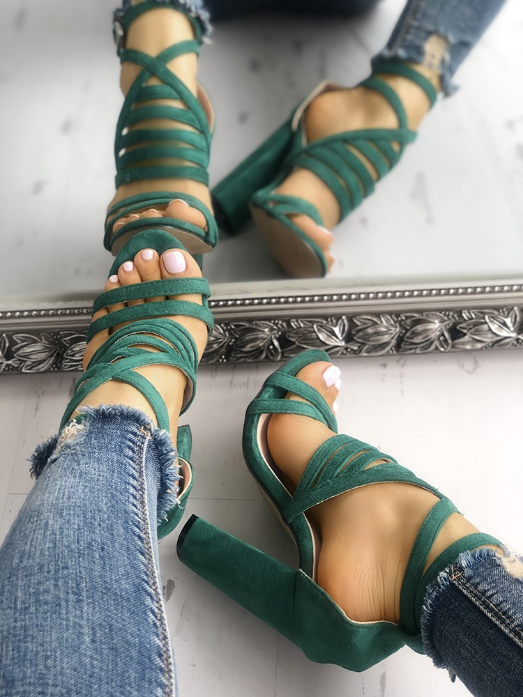 boutiquefeel / Strappy Open Toe Stiletto Sandals