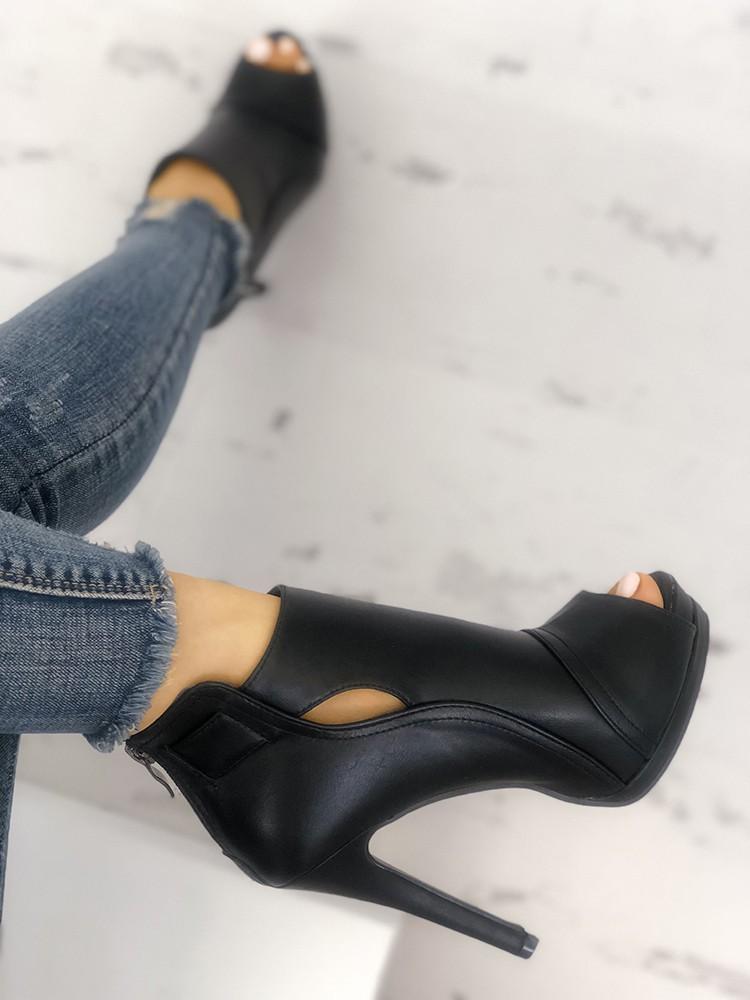 boutiquefeel / Fashion Peep Toe Cutout Thin Heels