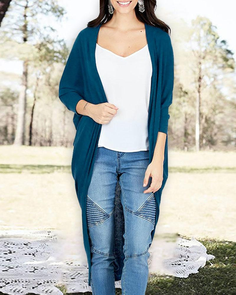 Ruched Knitted Irregular Casual Cardigan thumbnail