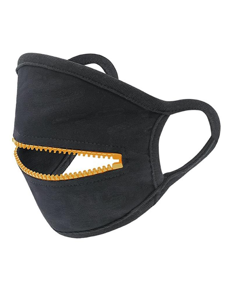 Zipper Design Breathable Face Mask thumbnail