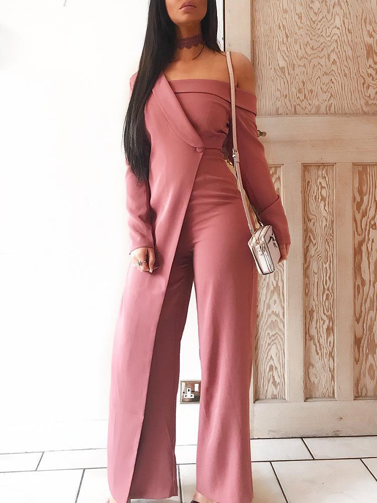 65491fdcbb1 Fashion Patchwork Off Shoulder Wide Leg Jumpsuit Online. Discover hottest  trend fashion at chicme.com