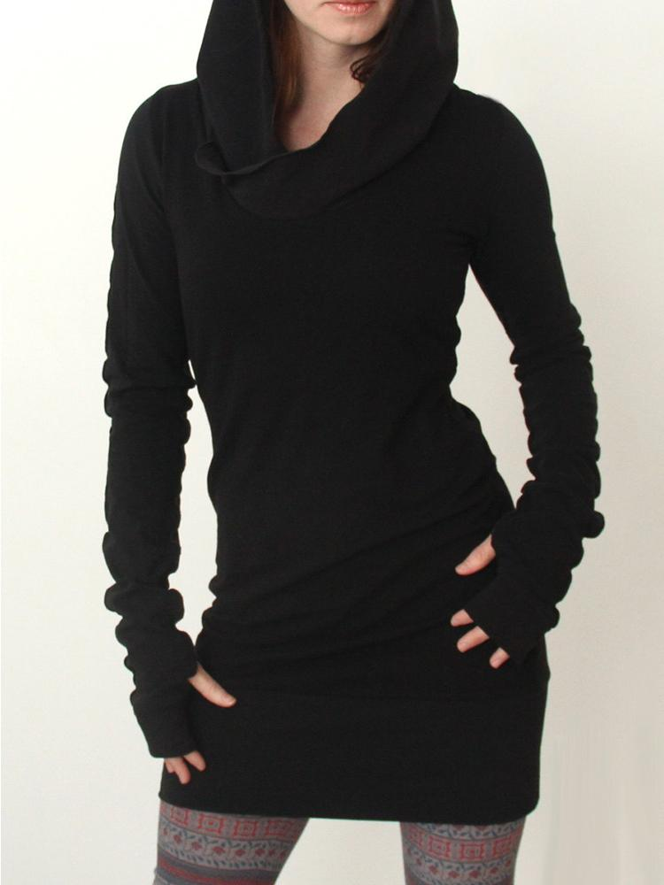 Fashion Black Hoodie Sweatshirt Dress Online. Discover hottest trend fashion at chicme.com