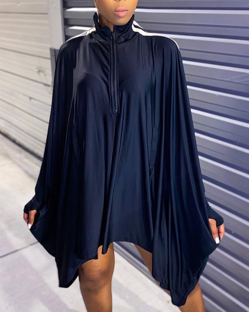 Color Block Long Sleeve Loose Dress thumbnail