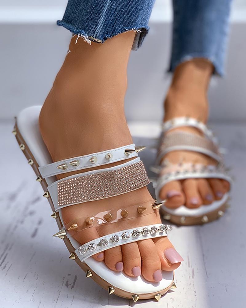 Glitter Studded Rivet Design Sliders thumbnail