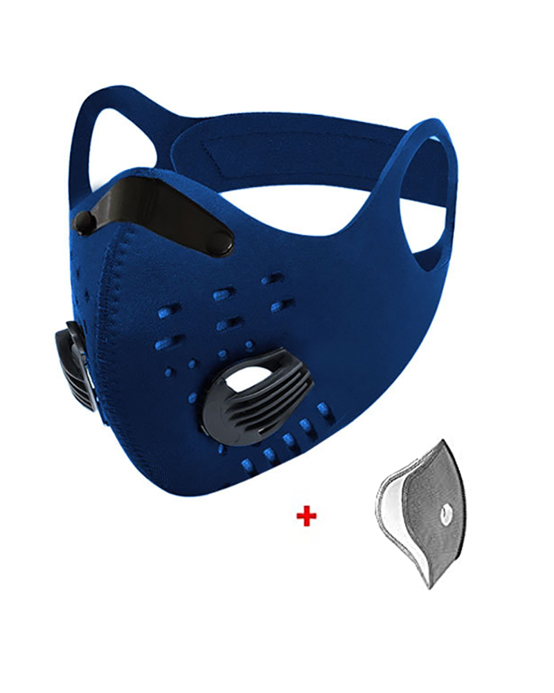 Ear Loop Breathing Washable 2 Valves Face Mask(1 fliter as gift) thumbnail