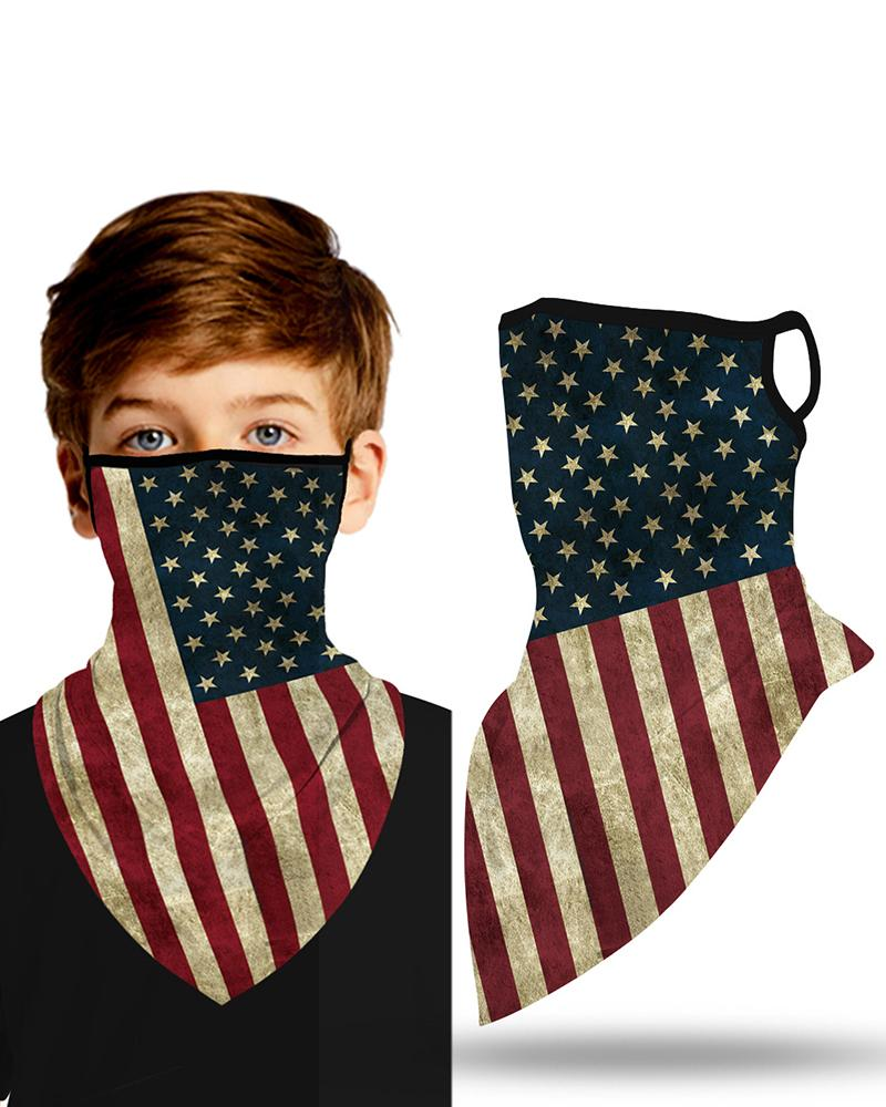 Flag Print Breathable Ear Loop Face Cover Windproof Outdoors For Children thumbnail