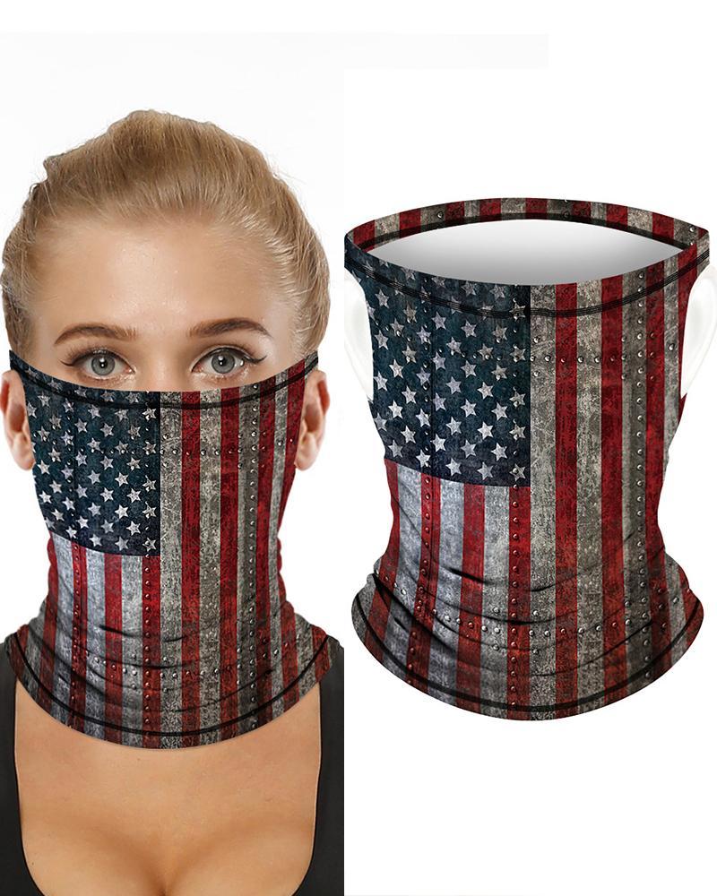 Flag Print Breathable Ear Loop FaceBandana Headwrap thumbnail