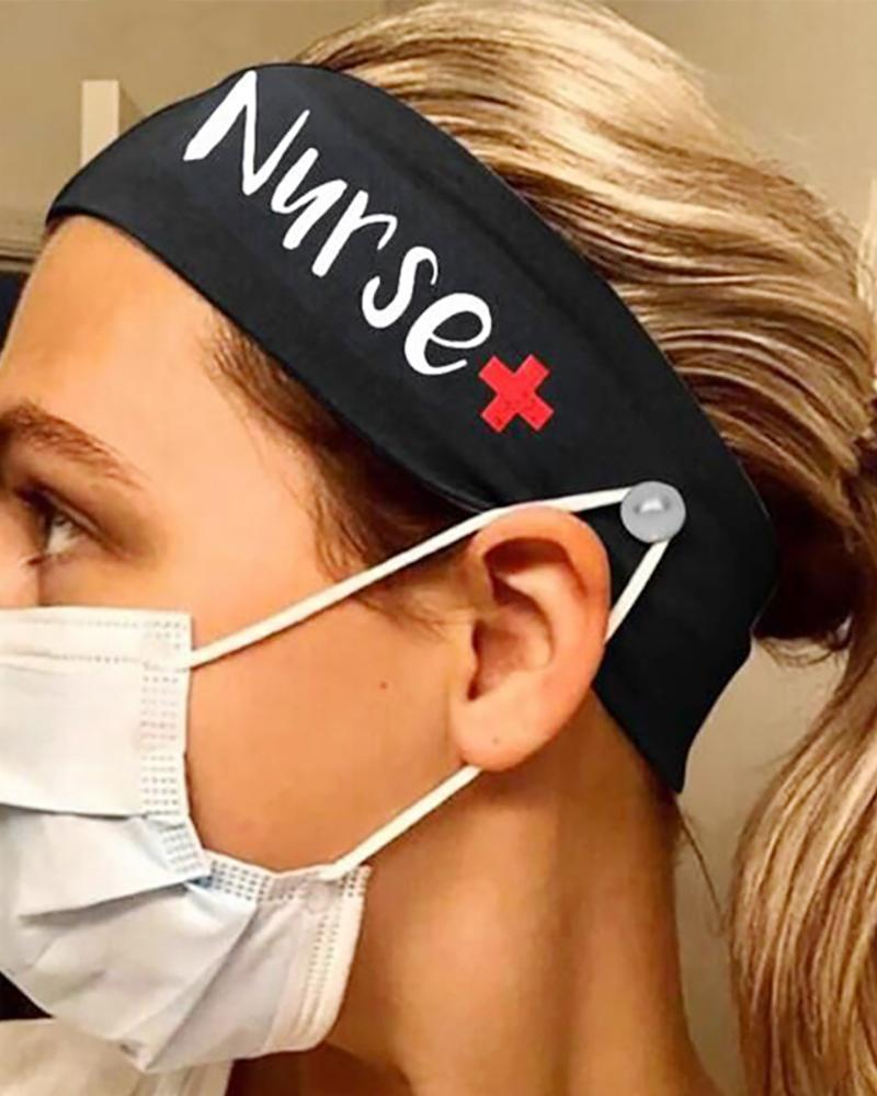 Button Wide Headband Elastic Facemask Holder thumbnail