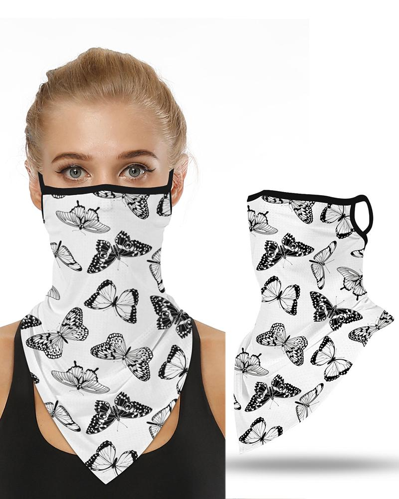 Butterfly Print Breathable Ear Loop Face Cover Windproof Motorcycling Dust Outdoors thumbnail