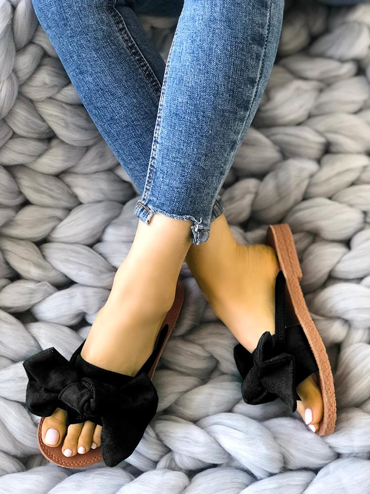 boutiquefeel / Casual Bowknot Toe Post Flat Sandals