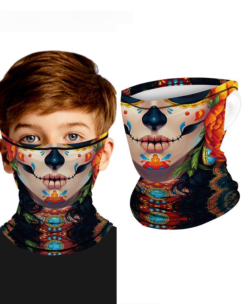 Print Breathable Ear Loop FaceBandana Headwrap For Children thumbnail