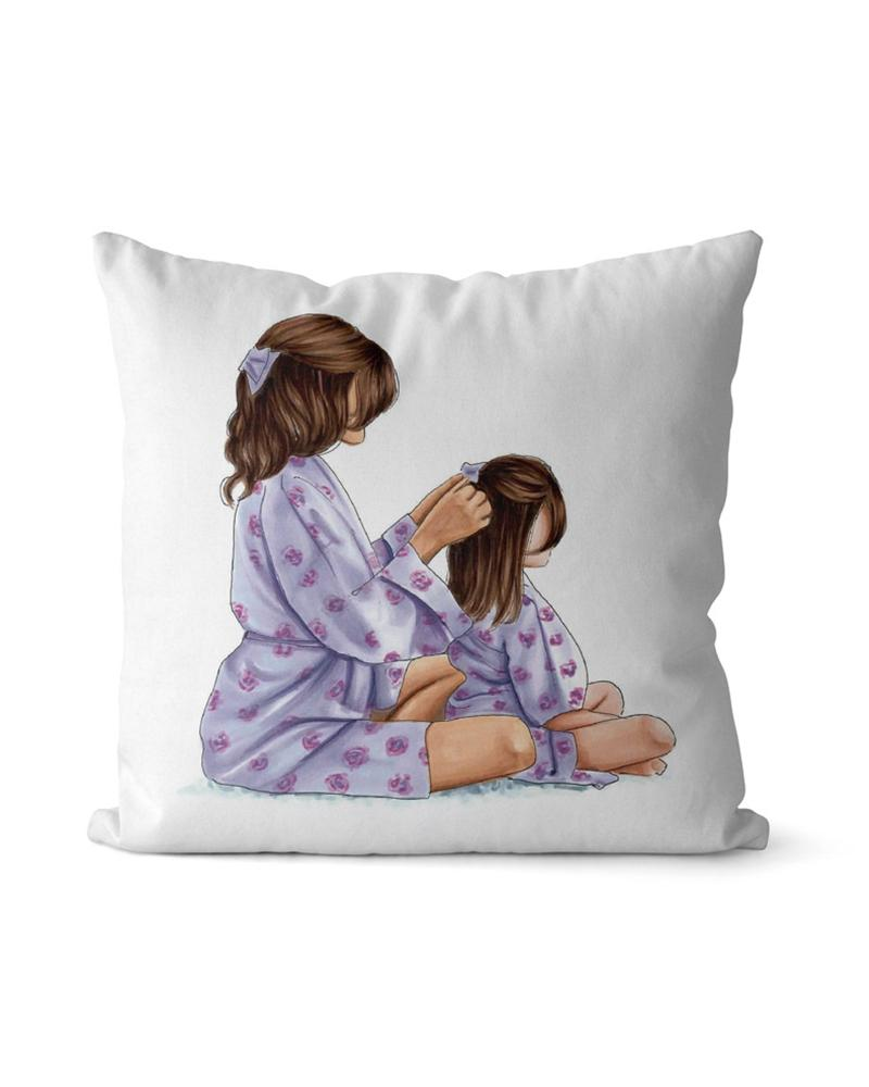 1PCS Mother's Day Graphic / Letter / Figure Print Cushion Cover Without Filler, Style10