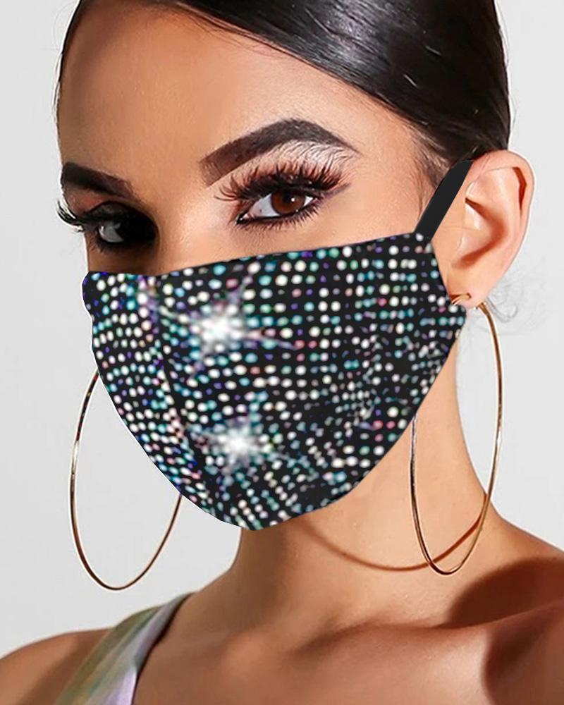 Glitter Studded Breathable Mouth Mask Reusable thumbnail