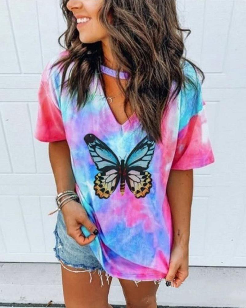Tie Dye Butterfly T-Shirt thumbnail