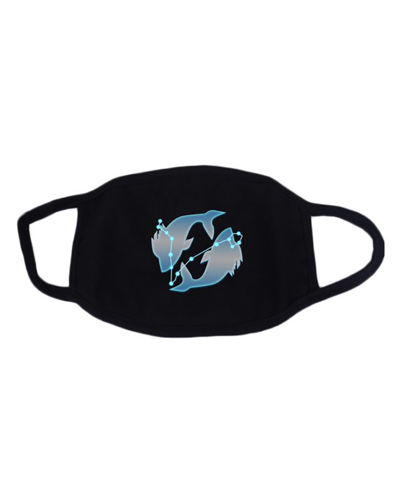 Twelve Constellations Fluorescent Breathable Mouth Mask Washable And Reusable thumbnail