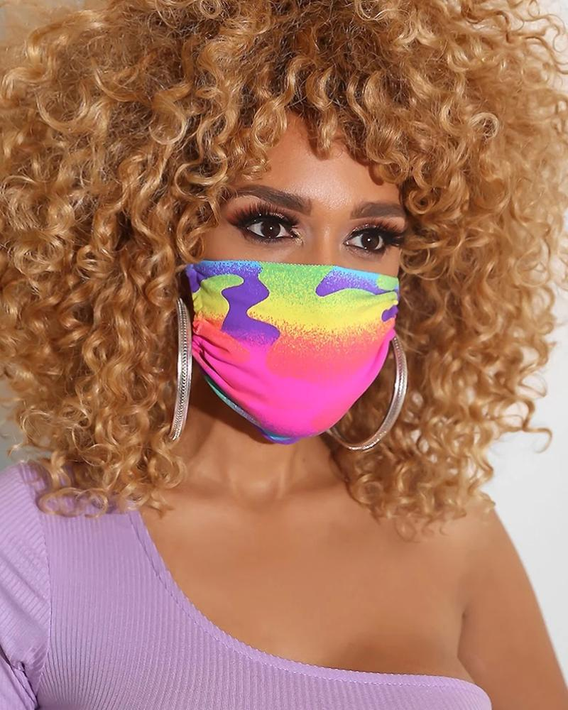 Colorblock Breathable Mouth M .a. s. k Washable And Reusable thumbnail