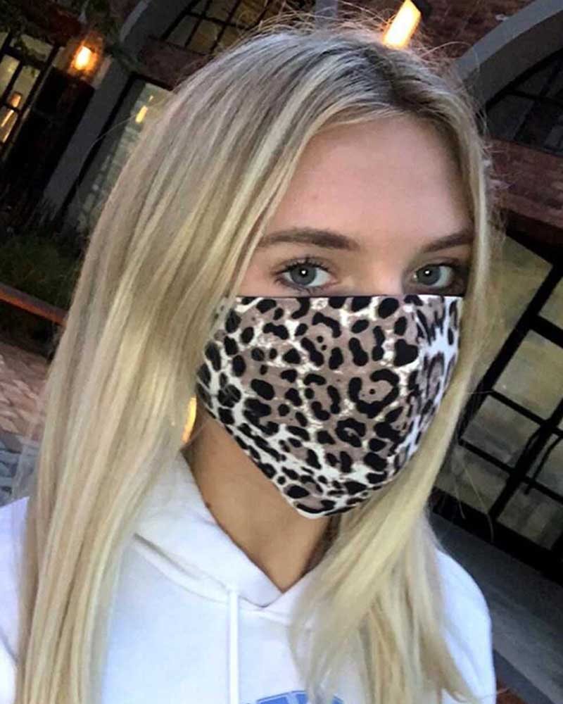 Tie Dye Leopard Print Breathable Mouth M .a. s. k Washable And Reusable thumbnail