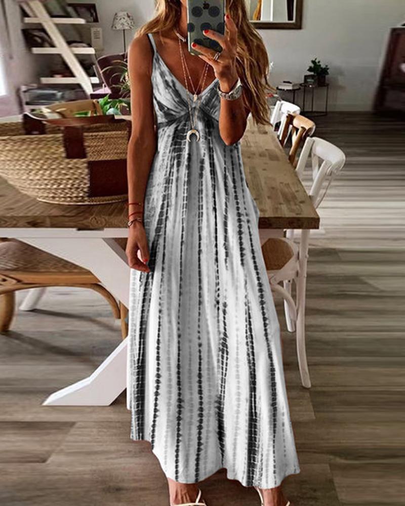 Tie Dye Cami Maxi Dress thumbnail
