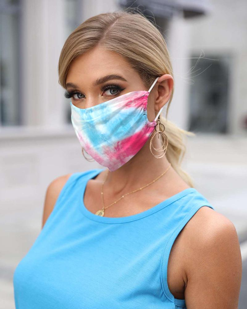 Tie Dye Print Breathable FaceBandana Magic Scarf Headwrap Balaclava thumbnail