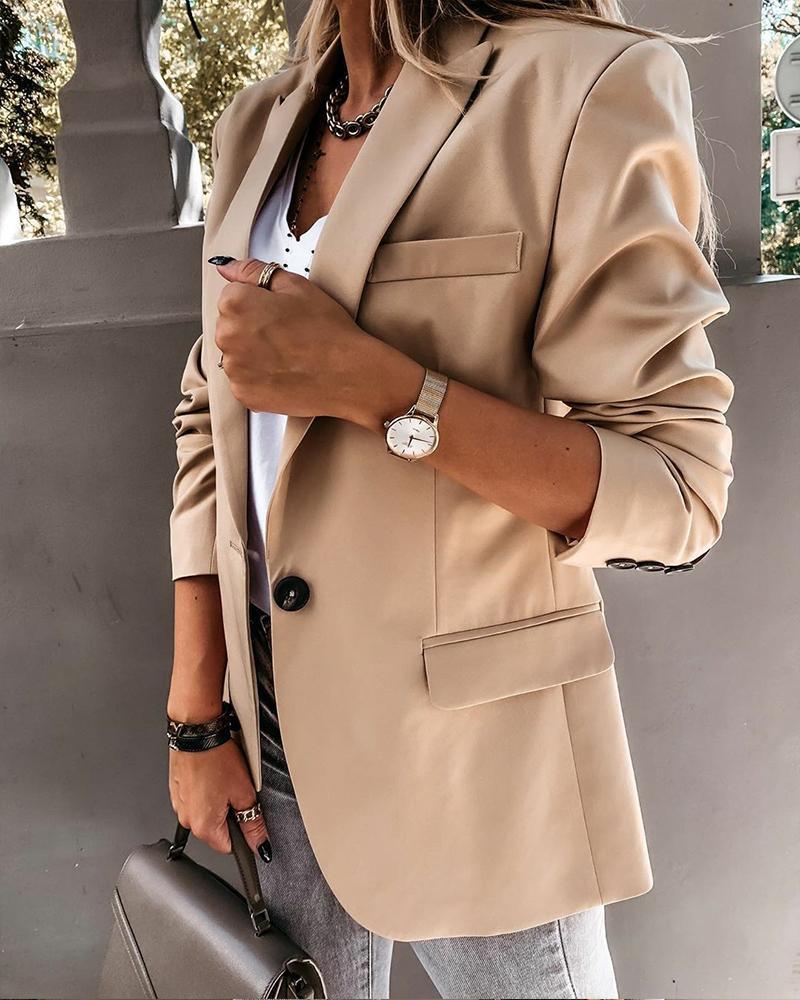 Solid Long Sleeve Fitting Blazer thumbnail