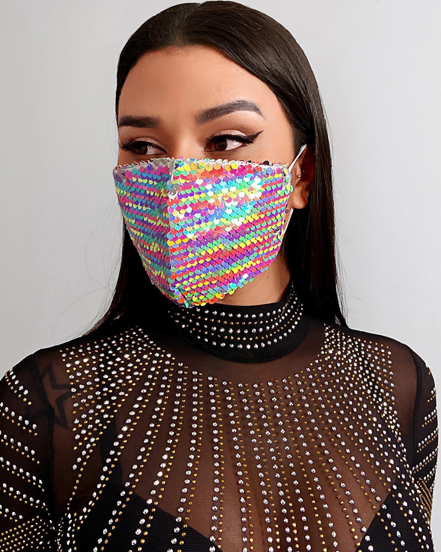 Sequins Glitter Breathable Ear Loop Mouth Mask Reusable thumbnail