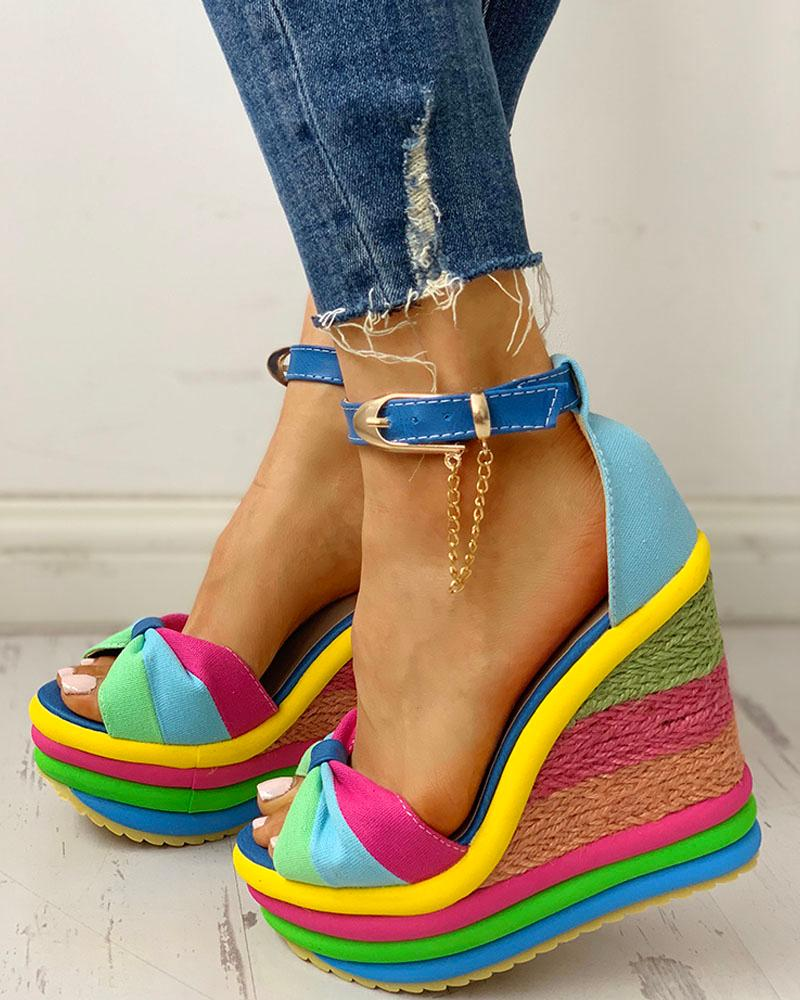 Muffin Muffin Wedge Colorful Colorful Sandals Sandals Espadrille Wedge Espadrille Colorful 6gyv7bYf