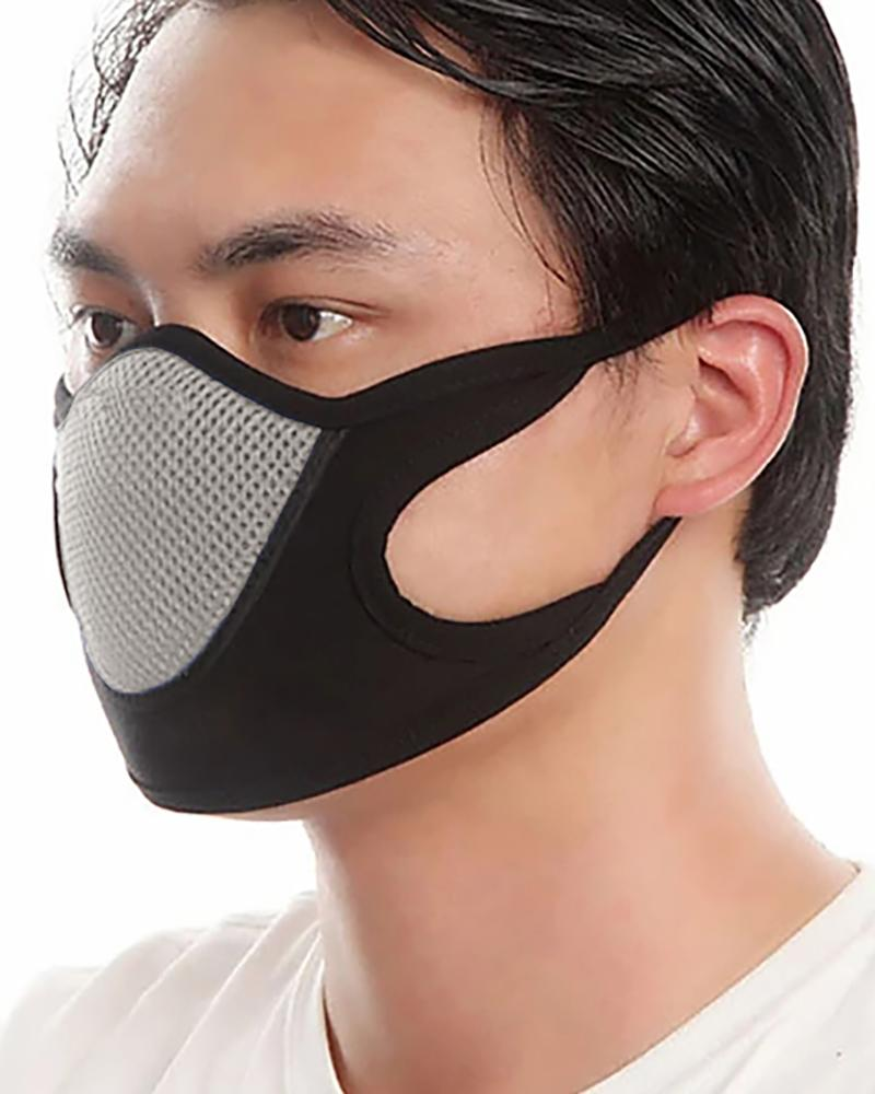 Colorblock Breathable Ear Loop Mouth Mask Washable And Reusable thumbnail
