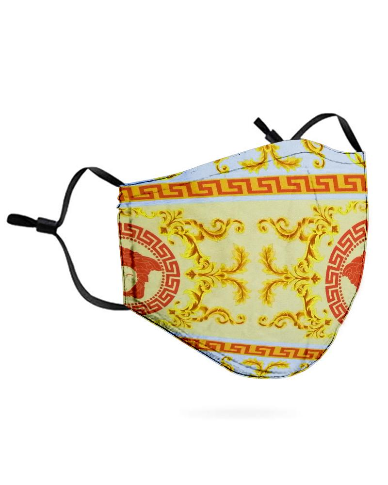 Print Breathable Mouth Mask Washable And Reusable Without Cord Lock Toggles thumbnail