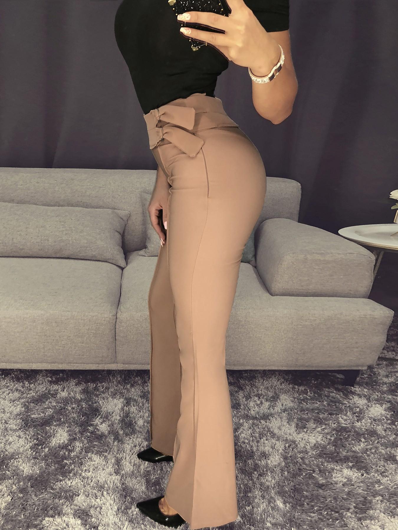 boutiquefeel / High Waist Flared Bottom Pants