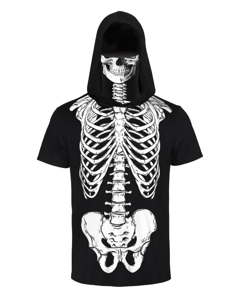 Sull Print Hooded T-shirt With Ear Loop Face Bandana thumbnail