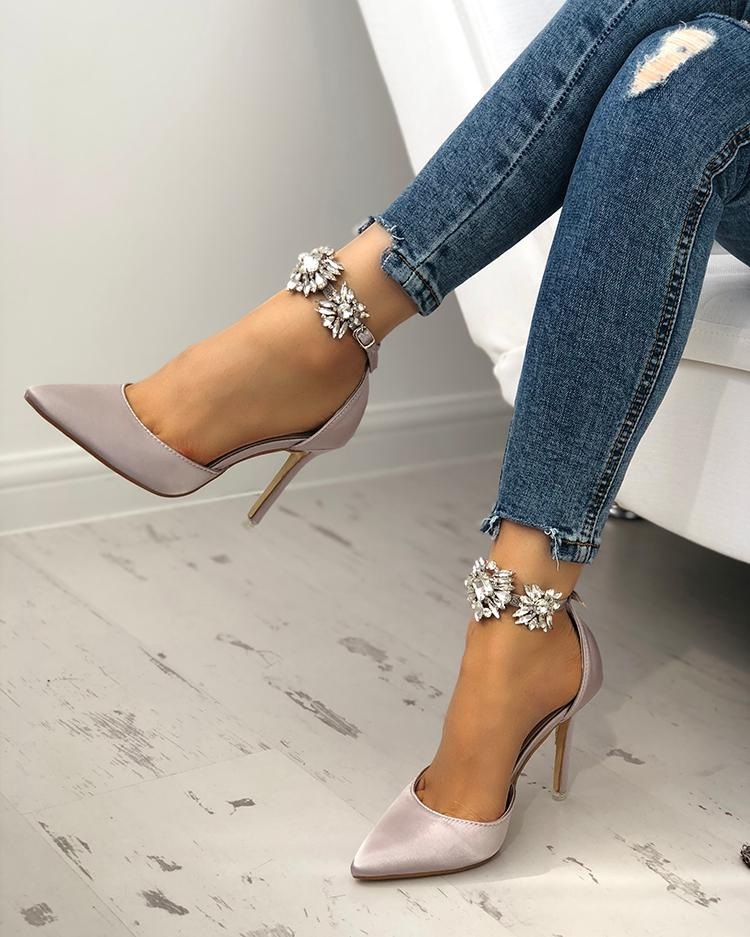 ankle cuff high heels