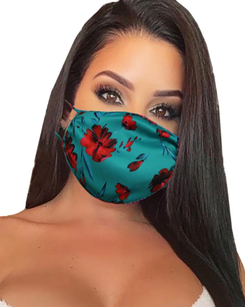 Floral Print Breathable Mouth Mask Washable And Reusable thumbnail