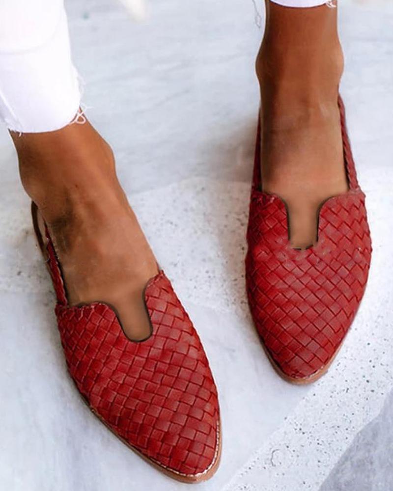 Solid Esparto Upper Flat Sandals thumbnail